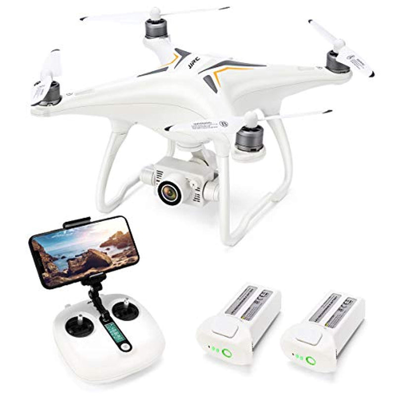 Jettime Drone with 1080P Camera with 2-Axis Self-stabilizing Gimbal 5G FPV Live Video and GPS Return Home,  X6 RC Quadcopter for Adults with Brushless Motor in 23+23 Mins Flight Time, Follow me