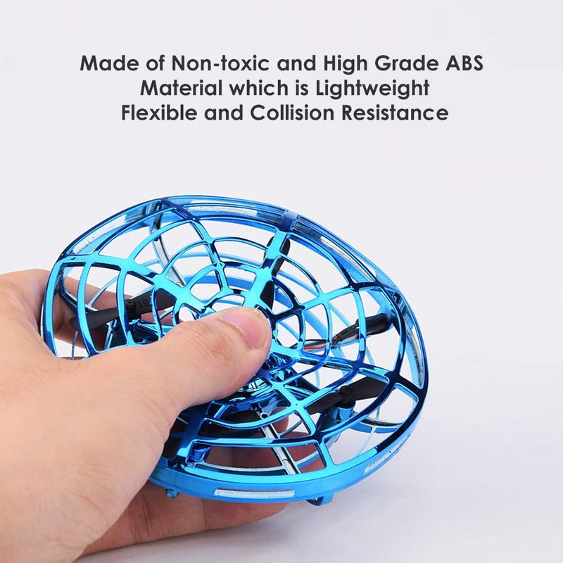Jettime Flying Toys Drones for Kids Mini Drones Hand Controlled UFO Flying Ball with Infrared Induction Interactive Drone Indoor Toys 360° Rotating and LED Lights for Boys and Girls