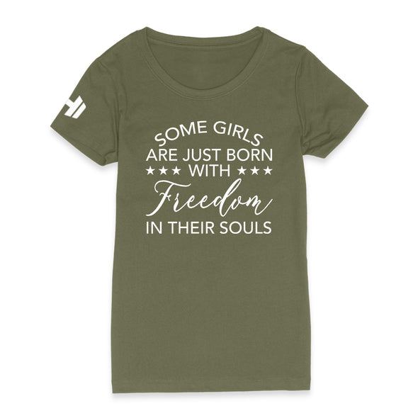 Born With Freedom In Their Souls Womens Apparel