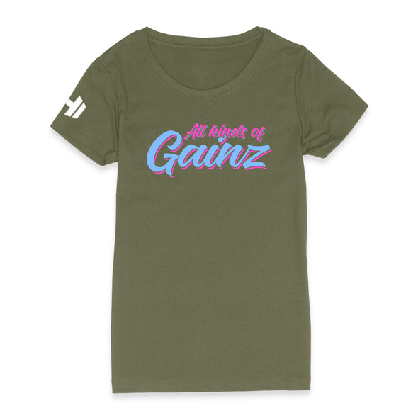 All Kinds of Gainz Neon Womens Apparel