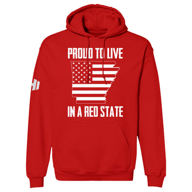 Proud To Live In A Red State - Arkansas Hoodie