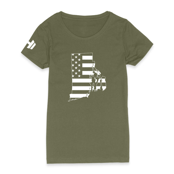 Rhode Island USA Flag Womens Apparel