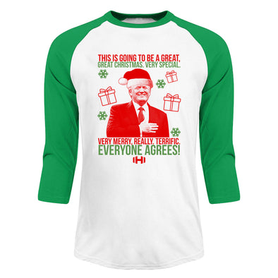 This Is Going To Be A Great Great Christmas Christmas Raglan