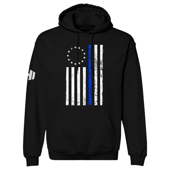 Betsy Ross Distressed Thin Blue Line Hoodie