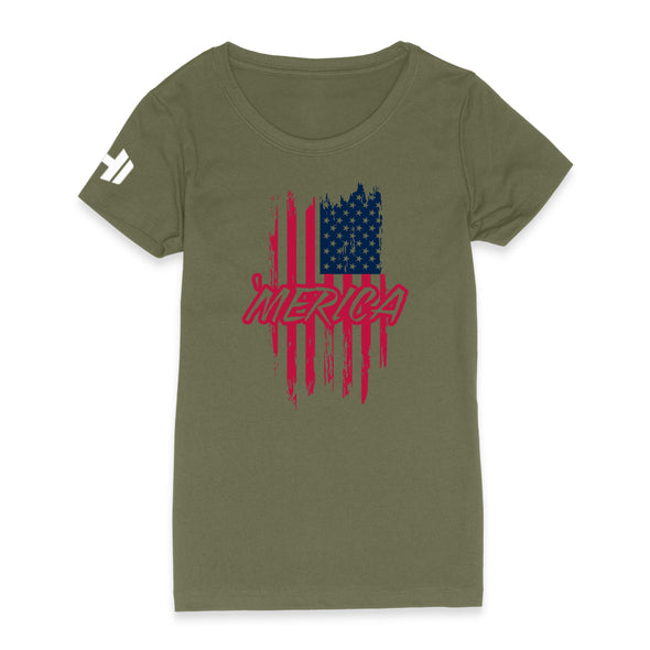 Color Merica Flag Womens Apparel