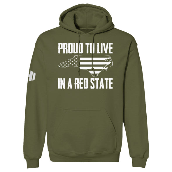 Proud To Live In A Red State - North Carolina Hoodie