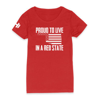 Proud To Live In A Red State - Oklahoma Womens Apparel