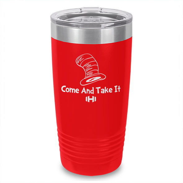 Come And Take It Cat Laser Etched Tumbler
