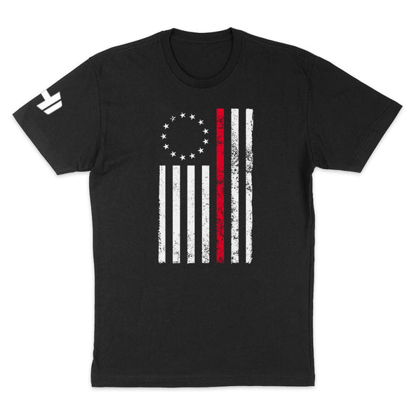 Betsy Ross Distressed Thin Red Line Mens Apparel