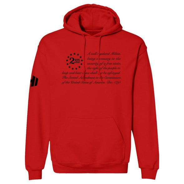 2nd Amendment Flag 1 Black Print Hoodie