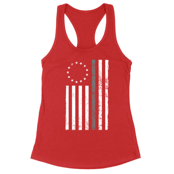 Betsy Ross Distressed Thin Silver Line Womens Apparel