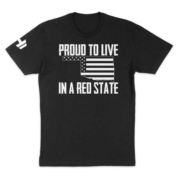 Proud To Live In A Red State - Oklahoma Mens Apparel