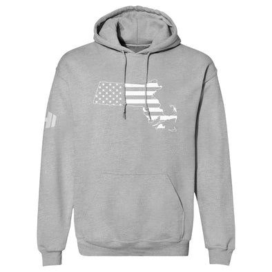 Massachusetts USA Flag Hoodie
