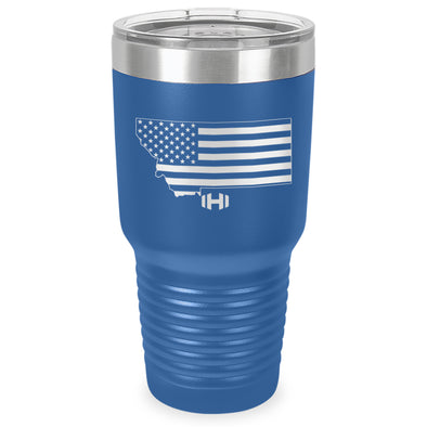Montana USA Flag Laser Etched Tumbler