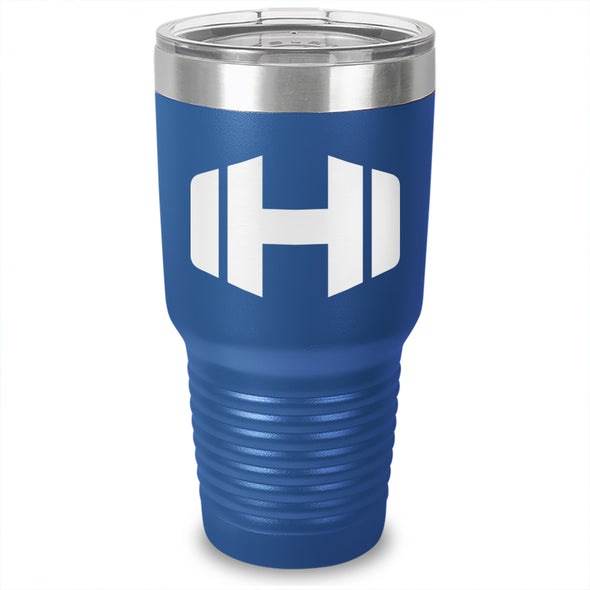 Hodgetwins Dumbbell Logo Laser Etched Tumbler