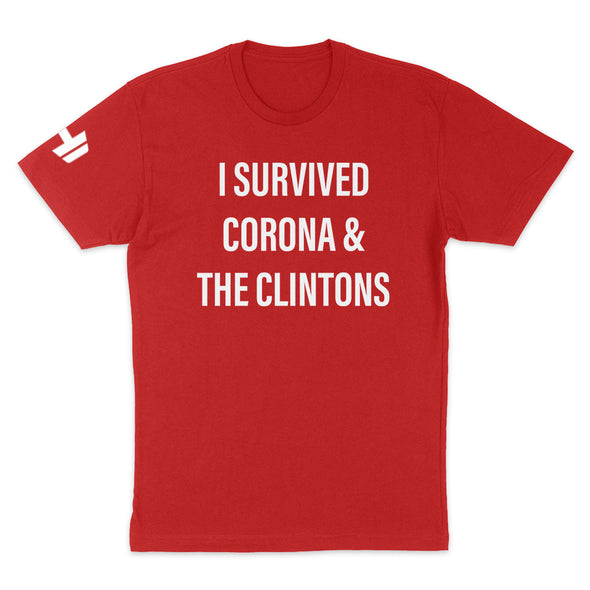 I Survived Corona And The Clintons Mens Apparel
