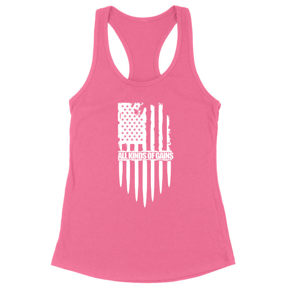 All Kinds Of Gains Flag Womens Apparel