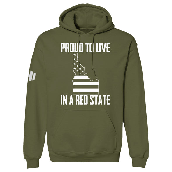 Proud To Live In A Red State - Idaho Hoodie