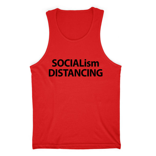 Socialism Distancing Black Print Mens Apparel