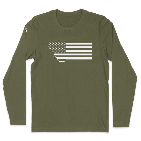Montana USA Flag Mens Apparel
