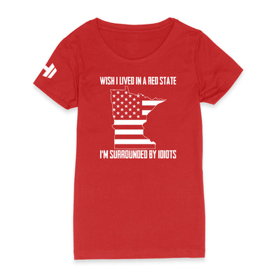 Wish I Lived In A Red State - Minnesota Womens Apparel