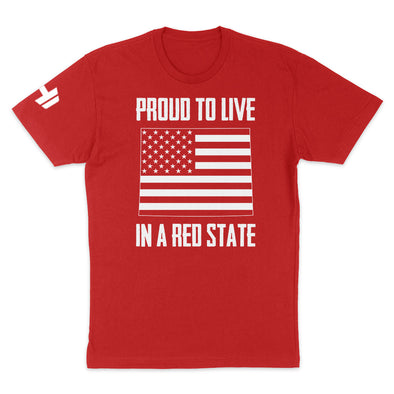 Proud To Live In A Red State - Wyoming Mens Apparel