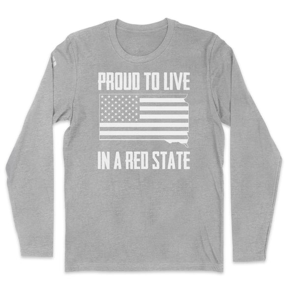 Proud To Live In A Red State - South Dakota Mens Apparel