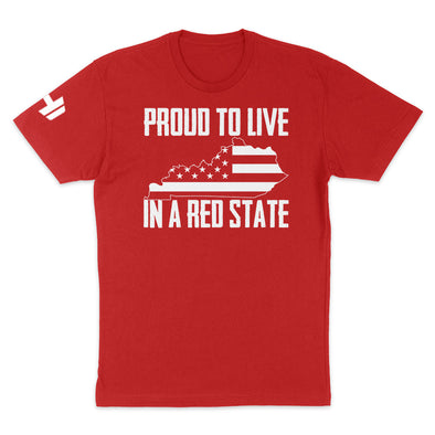 Proud To Live In A Red State - Kentucky Mens Apparel