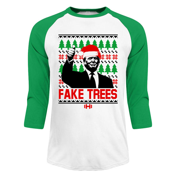 Fake Trees Christmas Raglan