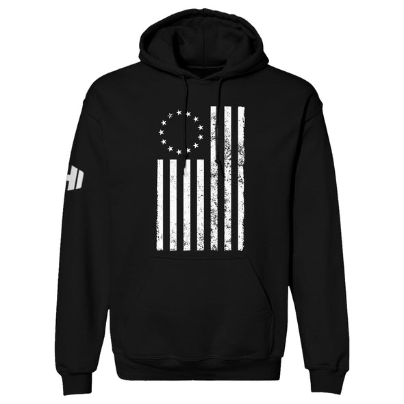 Betsy Ross Distressed White Hoodie