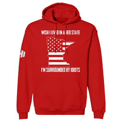 Wish I Lived In A Red State - Minnesota Hoodie