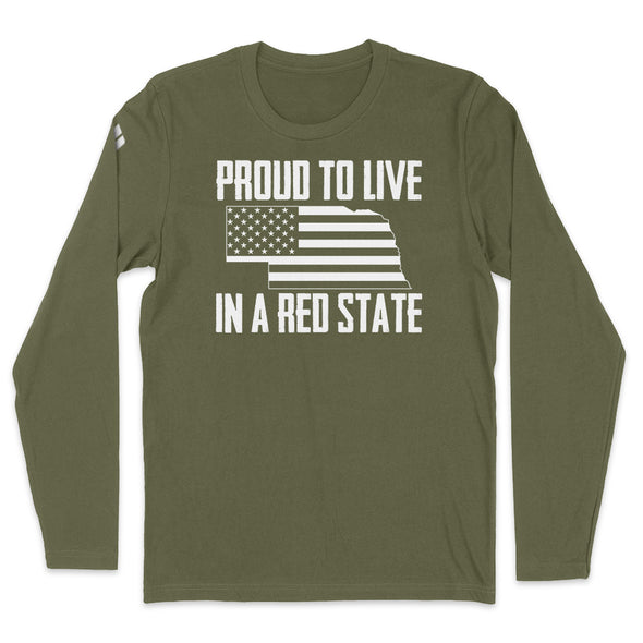 Proud To Live In A Red State - Nebraska Mens Apparel