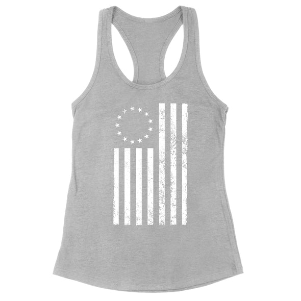 Betsy Ross Distressed White Womens Apparel