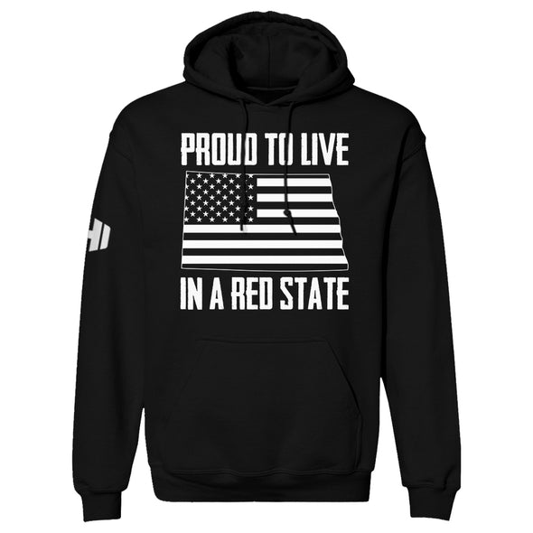 Proud To Live In A Red State - North Dakota Hoodie
