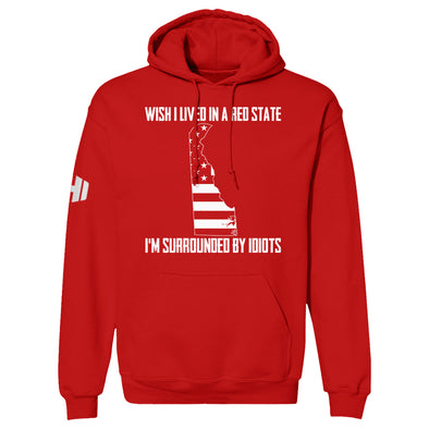 Wish I Lived In A Red State - Delaware Hoodie