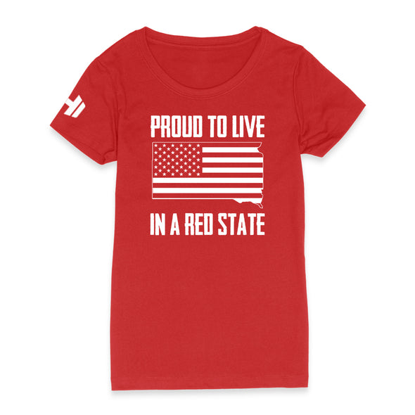Proud To Live In A Red State - South Dakota Womens Apparel