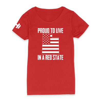 Proud To Live In A Red State - Utah Womens Apparel
