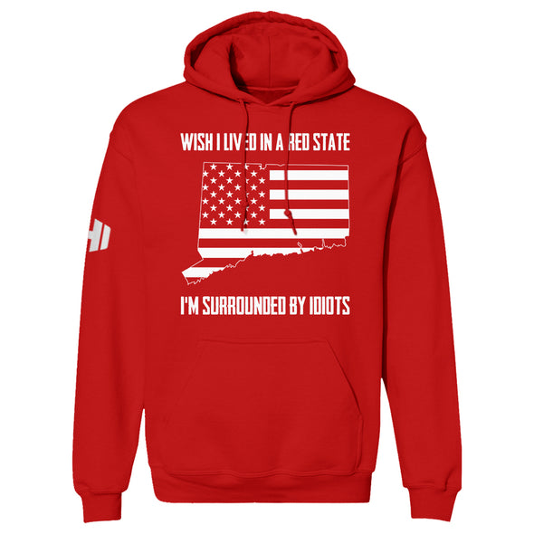 Wish I Lived In A Red State - Connecticut Hoodie