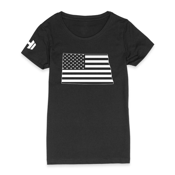 North Dakota USA Flag Womens Apparel