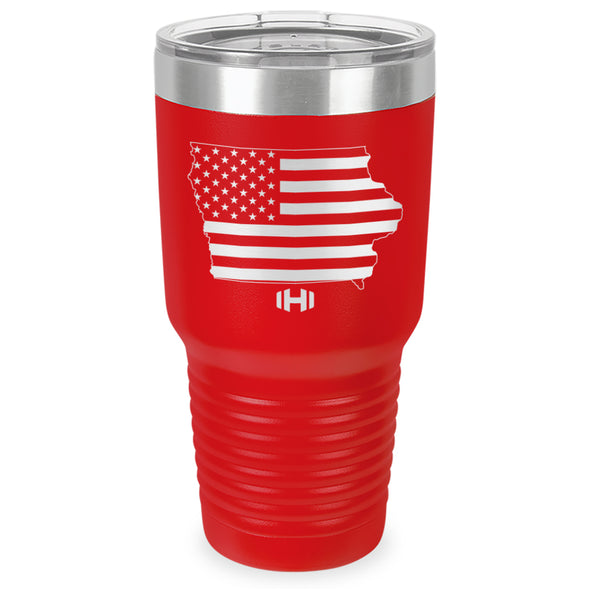 Iowa USA Flag Laser Etched Tumbler