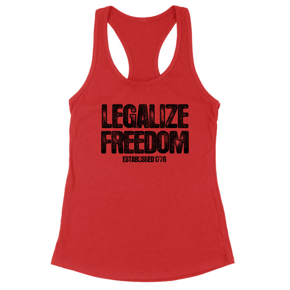 Legalize Freedom Black Print Womens Apparel