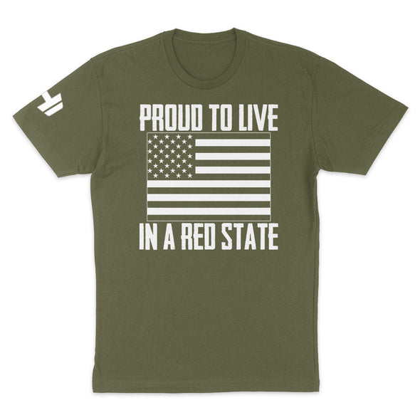 Proud To Live In A Red State - Colorado Mens Apparel