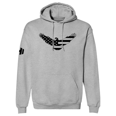 USA Flag Eagle Black Print Hoodie