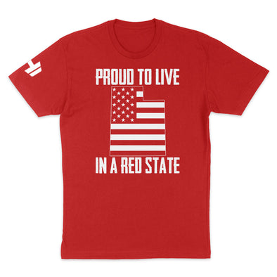 Proud To Live In A Red State - Utah Mens Apparel