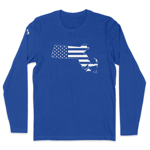 Massachusetts USA Flag Mens Apparel