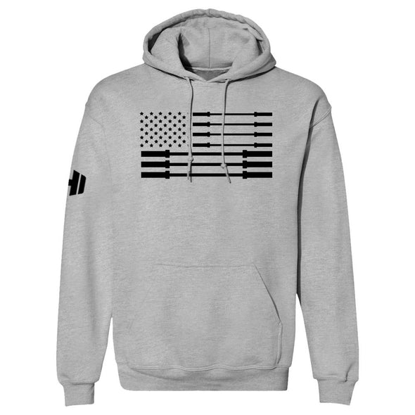 Star Barbell Flag Black Print Hoodie