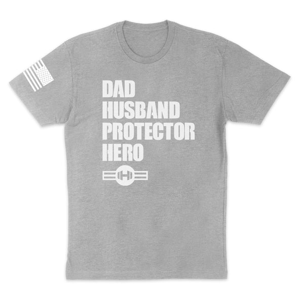 Dad Husband Protector Hero Mens Apparel