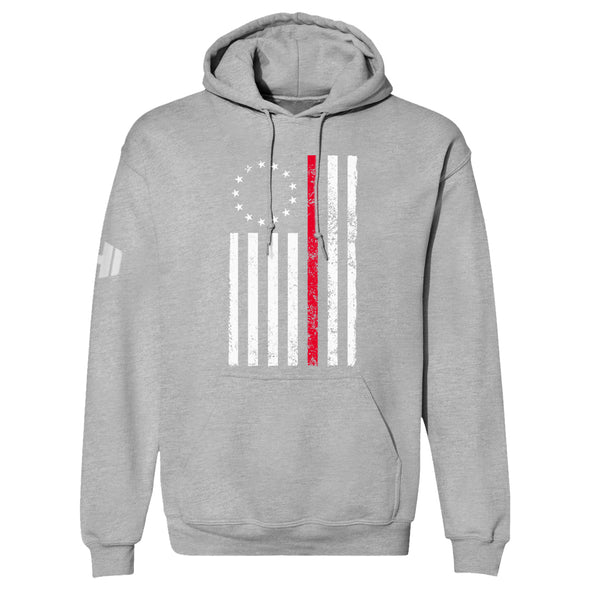Betsy Ross Distressed Thin Red Line Hoodie