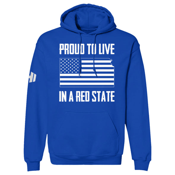 Proud To Live In A Red State - Kansas Hoodie