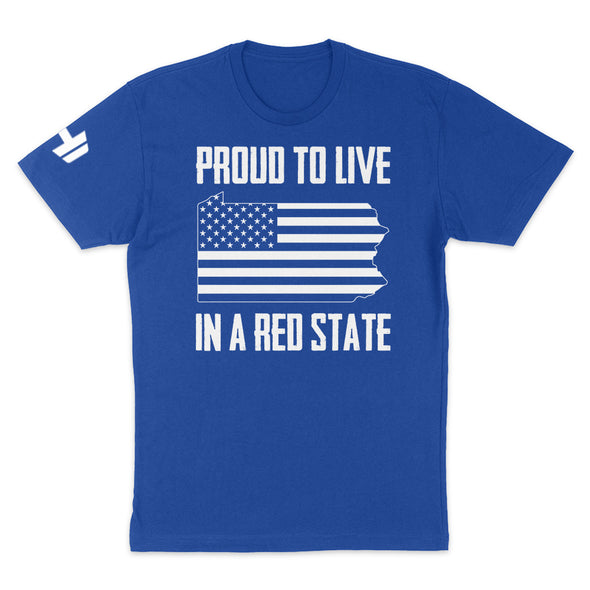 Proud To Live In A Red State - Pennsylvania Mens Apparel